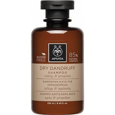 Apivita Dry Dandruff Shampoo with Celery & Propolis, 250ml