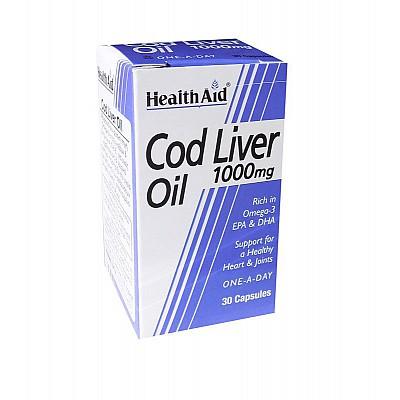 Health Aid COD LIVER OIL 1000mg, 30caps
