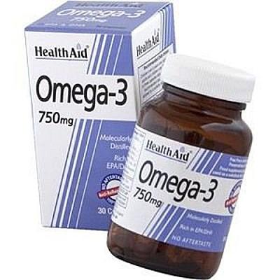 HealthAid Omega 3 750mg (EPA 425mg, DHA 325mg), 30 caps