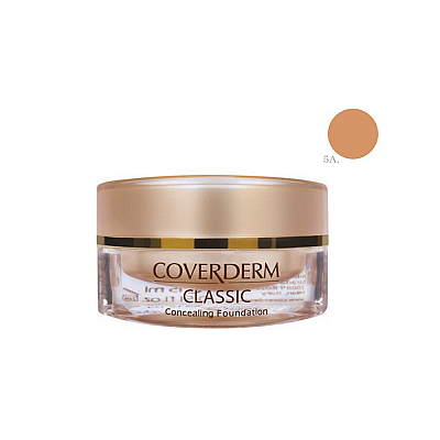 Coverderm Classic Concealing Foundation SPF30 no.5A , 15ml