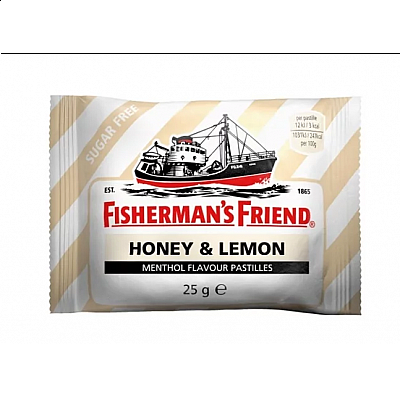 Fisherman's Friend Honey & Lemon Καραμέλες με Γεύση Μέλι, Λεμόνι και Μενθόλη 25g