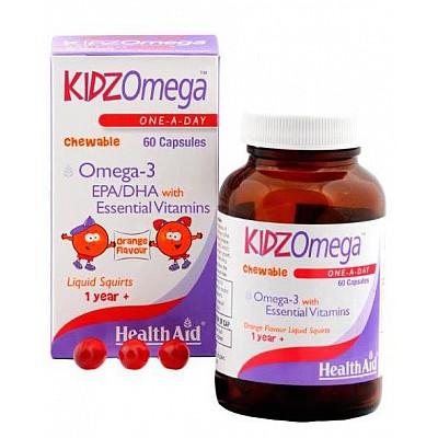 Health Aid KIDZ Omega 3 (EPA/DHA) - Chewable, 60caps
