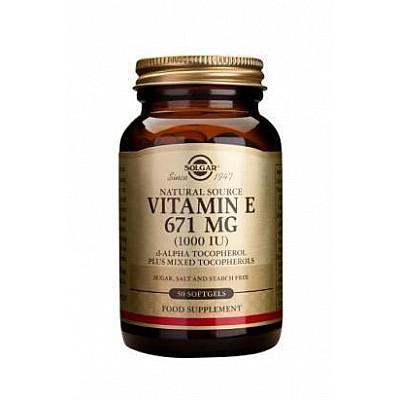 Solgar Vitamin E 1000 IU, 50softgels
