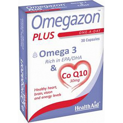 HealthAid Omegazon PLUS Ω3 & Co Q10, 30 caps