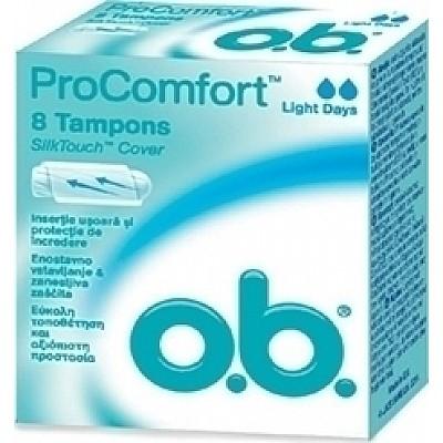 O.B. Pro Comfort Light Days Curved Grooves 8 pcs