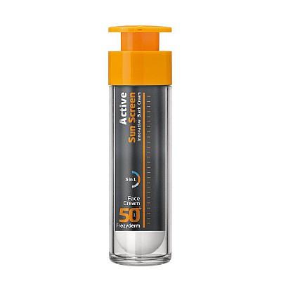 Frezyderm Active Sun Screen Face Cream SPF50+ Αντηλιακή Προσώπου Ενυδάτωσης και Αντιγήρανσης 50ml