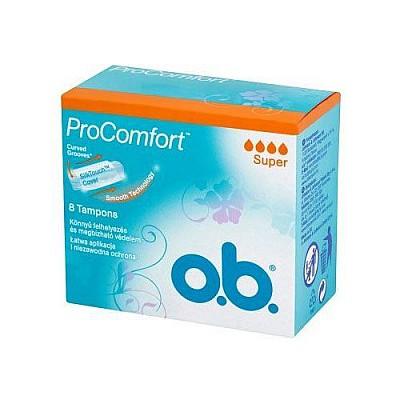 O.B. ProComfort Curved Grooves Super 8pcs