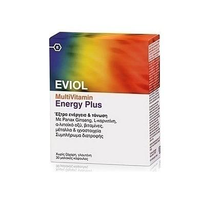 Eviol MultiVitamin Energy Plus 30softcaps - Πολυβιταμίνη Τόνωσης