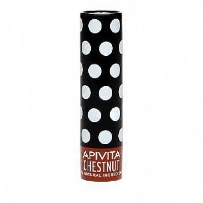 Apivita Lip Care Chestnut Βιολογική φροντίδα για τα χείλη με Κάστανο 4.4gr