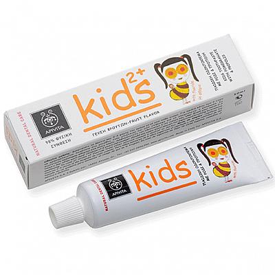 APIVITA Natural Dental Care KIDS 2+ Kids Toothpaste with pomegranate & propolis, 50ml