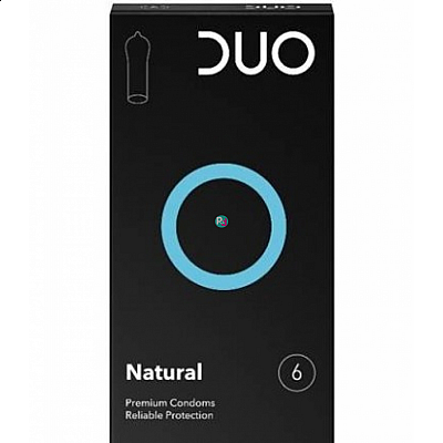DUO Natural Προφυλακτικά Κανονικά, 6 τεμάχια