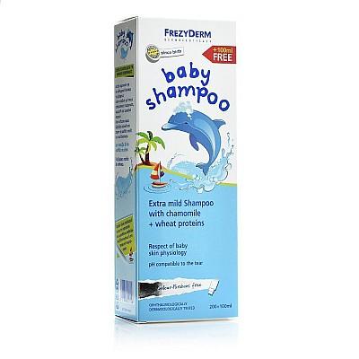 Frezyderm Baby Shampoo, Βρεφικό Σαμπουάν, Χωρίς Χρωστικές & Parabens 200ml + 100ml ΔΩΡΟ