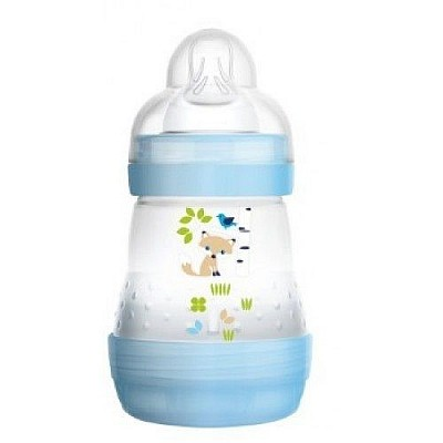 Mam Anti Colic- Anti Colic Bottle with Silicone Nipple, 0+ Months, 160ml