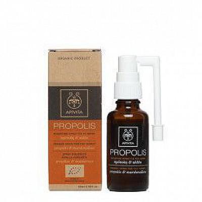 APIVITA Propolis Organic Spray for the Throat with marshmallow & propolis ,30ml