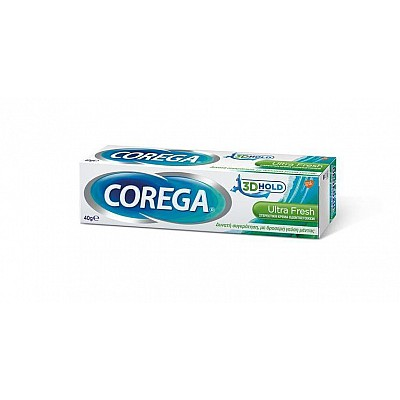 Corega 3D Ultra Fresh Cream - Στερεωτική Κρέμα Οδοντοστοιχίας - 40gr