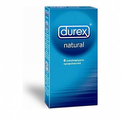 Durex Natural Τα Κλασικά Προφυλακτικά 6τμχ