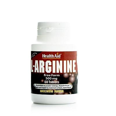 Health Aid L-Arginine 500mg, 60 tabs