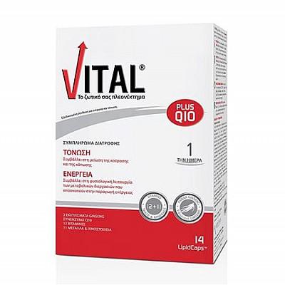 Vital Plus Q10 Συμπλήρωμα με Συνένζυμο Q10, 14caps