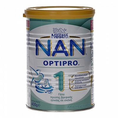 Nestle NAN 1 OptiPro Γάλα σε Σκόνη 1ης Βρεφικής Ηλικίας 400gr