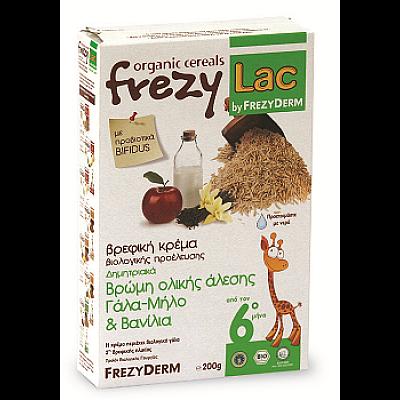 FREZYLAC Bio Cereal With Organic Whole Grain Oat, Milk, Apple & Vanilla, 200 gr
