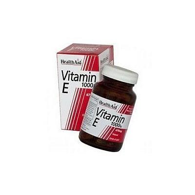 Health Aid VITAMIN E1000 i.u (670mg), 30 caps