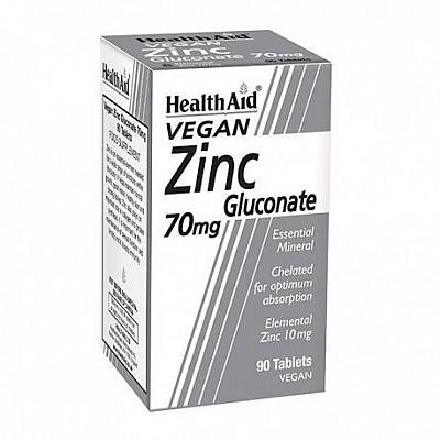 HEALTH AID ZINC GLUCONATE 70MG, 90 tablets