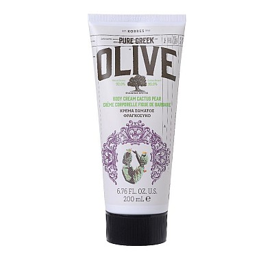 Korres Pure Greek Olive Body Cream Cactus Pear Moisturizing Body Cream with extra virgin olive oil & prickly pear, 200ml
