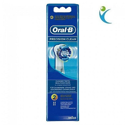 OralB Precision Clean Replacement Brushes, 2 pieces