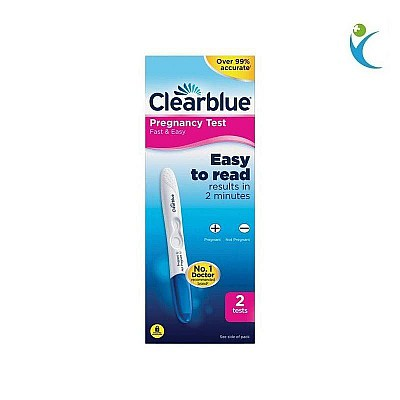 CLEARBLUE FAST & EASY PREGNANCY TEST 2 PIECES