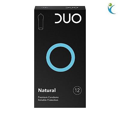 DUO Natural Προφυλακτικά Κανονικά, 12 τεμάχια