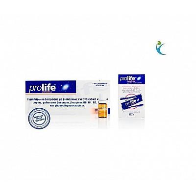Prolife Lactobacilli Συμπλήρωμα Διατροφής με Προβιοτικά & Σύμπλεγμα Vitamin-Β, αμπούλες 7x8ml