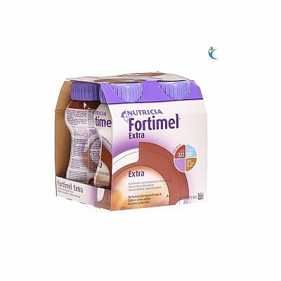 Nutricia Fortimel Extra Chocolate Υπερπρωτεϊνικό Ρόφημα με γεύση Σοκολάτα, 4x200ml