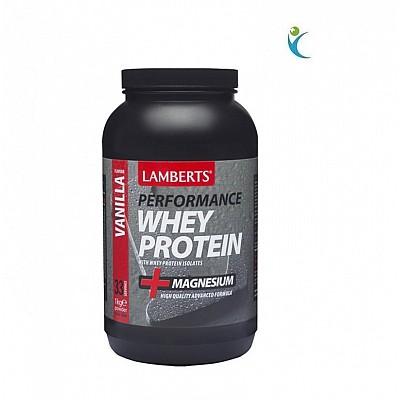 Lamberts Whey Protein Vanilla Πρωτείνη Ορού Γάλακτος με Γεύση Βανίλια 1000g