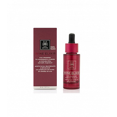Apivita Wine Elixir Replenishing Firming Face Oil, 30ml