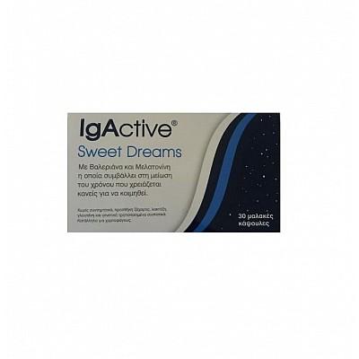 Igactive Sweet Dreams Συμπλήρωμα Διατροφής Για Εύκολο Ύπνο 30 Soft Gels