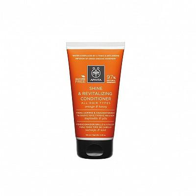 Apivita Κρέμα Λάμψης & Αναζωογόνησης για όλους τους Τύπους Μαλλιών με Πορτοκάλι & Μέλι 150ml