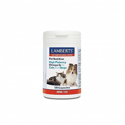 Lamberts Pet Nutrition High Potency Omega 3s Cats & Dogs 120caps