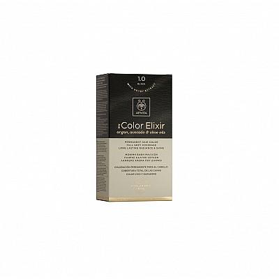 Apivita My Color Elixir Μόνιμη Βαφή Μαλλιών No 1.0 Μαύρο, 1 τεμάχιο