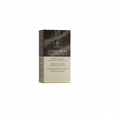 Apivita My Color Elixir Βαφή Μαλλιών 6.78 Ξανθό Σκούρο Μπεζ Περλέ