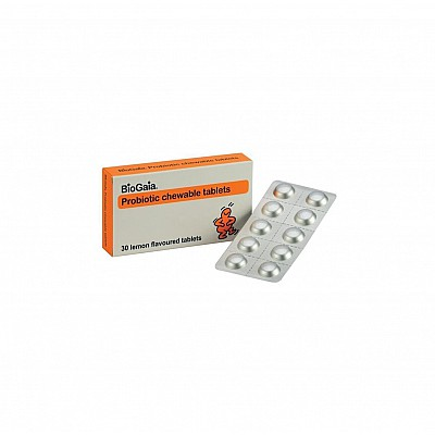 BioGaia ProTectis Family Μασώμενα Προβιοτικά με ευχάριστη γεύση Λεμόνι, 30 chew. tabs
