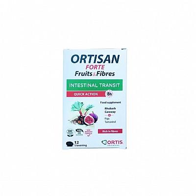Ortis Ortisan Forte Συμπλήρωμα Διατροφής για Εντερική Διέλευση ταχείας δράσης, 12 tabs