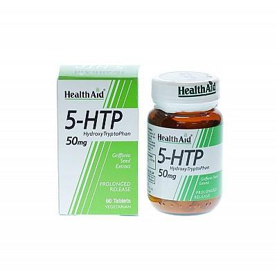 Health Aid 5-HTP 50mg Αμινοξύ που λειτουργεί ως ρυθμιστής της σεροτονίνης & της καλής διάθεσης 60 Ταμπλέτες