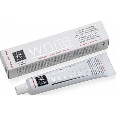 Apivita Natural Dental Care Whitening Toothpaste with Mastic Flavor, 75ml
