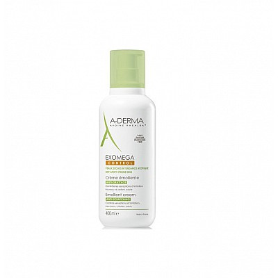 A-Derma Exomega Control Creme Softening Care for Atopic & Very Dry Skin, 400ml