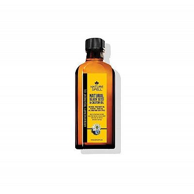 NATURE SPELL 2 IN 1 NATURAL BLACK SEED & CASTOR TREATMENT OIL FOR HAIR & BODY 150ML