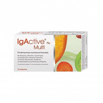 IGACTIVE Flu Multi Πολυβιταμινούχο συμπλήρωμα διατροφής 30 κάψουλες