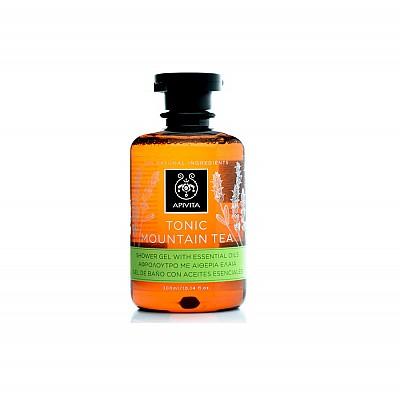 Apivita Tonic Mountain Tea Shower Gel with Bergamot & Mountain Tea, 300ml