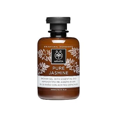 Apivita Pure Jasmine Shower Gel with Essential Oils, 300ml