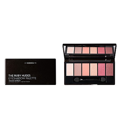 Korres Volcanic Minerals The Ruby Nudes Eyeshadow Palette Παλέτα Σκιών 1 τεμάχιο