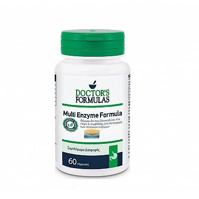 Doctor's Formulas Multi Enzyme Formula Διευκολύνει την Πέψη & Συμβάλλει στη Λειτουργία των Πεπτικών Ενζύμων, 60 caps